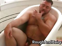 Chubby gay dude sucks stiff rod and fuck