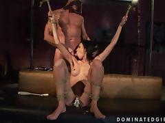 Brunette Sex Slave In BDSM Scene