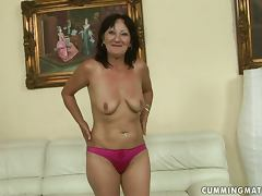 Marija rides her fucking machine to orgasm town