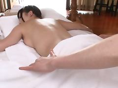 Oiled Up Asian MILF Gets Massaged and Fucked Hard and Deep