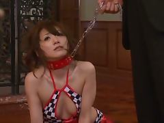 Asian Race Queen Saki Kouzai Gets Toyed Before Sucking Cocks