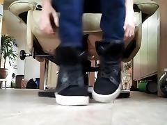 Me in black puma socks white puma socks and my naked feets
