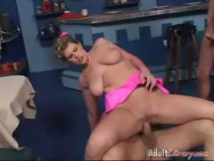 Waitress Lisa Sparxxx Threesome