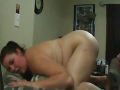 ROUGH FUCK Brunette BBW Big Round Ass Doggystyle