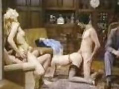 Hot girls get their hairy pussies pounded in German vintage video