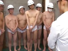 Yuu Konishi has fun with six guys and gets a bukkake