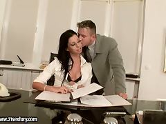 Larissa Dee the sexy secretary gets fucked in pussy and ass