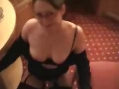 Horny Sexy Wife Puts On Show Then Takes A Facial