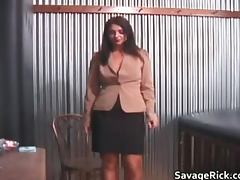 Hot sexy nasty MILF brunette babe gets part2