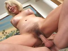 Hairy blonde milf gets asfucked