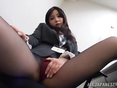 Lovely Japanese office girl has sex with her colleagues