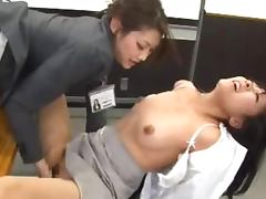 Two amazing Asian lesbian girls have some lesbian fun