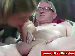 Cum Swapping, Cumshot, Dutch, Hooker, Old, Old Man