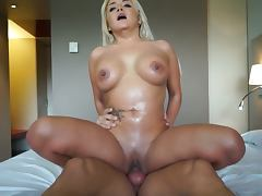 Big tits blonde rides big cock