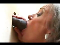 Gloryhole granny and BBC