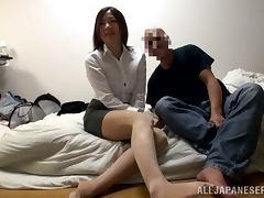 Miniskirt, Amateur, Asian, Blowjob, Couple, Cum in Mouth