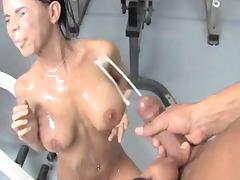 Big Cock, Big Cock, Big Tits, Boobs, Brunette, Facial