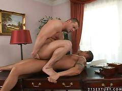 Claudio Antonelli and John Wolt fuck each other's butts and moan in pleasure