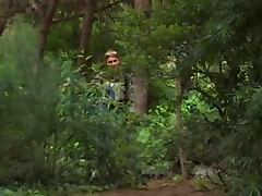 Nikolette spying on sex in the woods