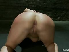 Horny sex slave is always ready to give a blowjob and ride a cock