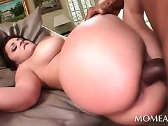 Monster black cock drilling this moms wet horny snatch