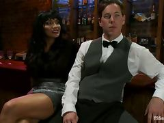Vern Hopkins and Yasmin Lee enjoy sucking and rubbing each other's cocks