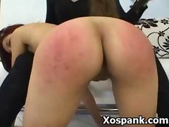 BDSM Spanking Fetish Sex For Tight Beauty