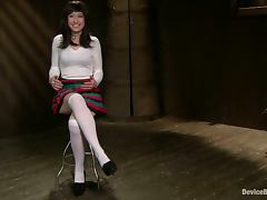 Hot Proxy Paige gets covered with hot wax and toyed
