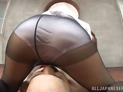 A mature office whore fools around with an assistant porn video