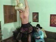 Blonde milf spanked by a cowboy porn video