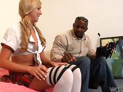 Black Private Tutor Fucking Hot Kinky Blonde School Girl Callie Cobra
