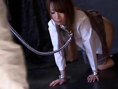 Ayaka Fujikita gives a blowjob to some guy in a jail