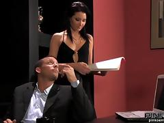 Seducing the inspector and getting naked in his office