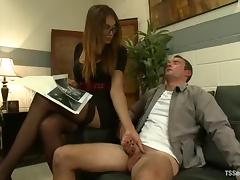 Yasmin Lee the tranny with big dick fucks a guy