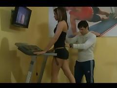 Lesbian Gym Workout