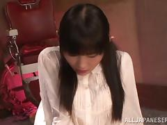 Rina Hatsume blows and gets her snatch fucked and toyed