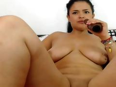 Hot latina on webcam pussy ass dildo