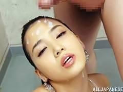 Japanese, Asian, Brunette, Bukkake, Cum, Cumshot