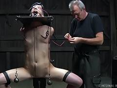 Basement, BDSM, Black, Brunette, Electro, MILF