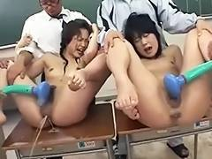Japanese Enema Squirting Schoolgirls Castigation Censored
