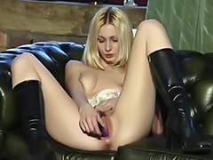 British bitch Jo May plays with herself in various scenes