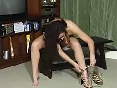 British doxy Clare plays with herself in various scenes