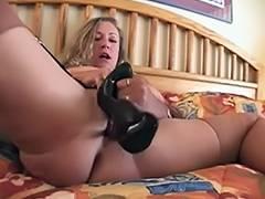 Fucll fashion nylons older breasty with high heel fetish