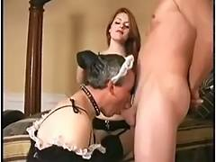 Bisexual, Bisexual, Blowjob, Strapon, Sucking