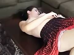 Cutie with hairy armpits shows off porn video