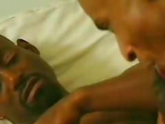 Cute gay is sucking this tasty black dick