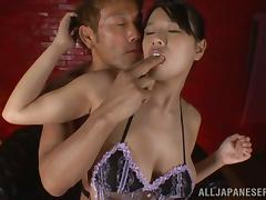 Curvaceous Hana Haruna blows a dick and gets nailed