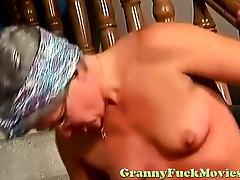 Nasty horny granny