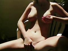 Balcony, Blonde, Cunt, Masturbation, Outdoor, Piercing