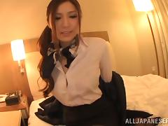 Yuna Shiina gives a titjob and gets fucked doggy style